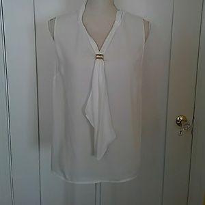 Tahari off white blouse size M